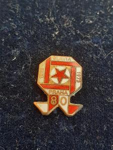 Odznak SLAVIA PRAHA FOTBAL, výroční 80 let 1893 -
