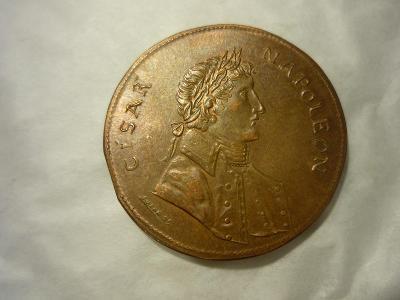 stará pamětní mince Pozořická stará pošta Napoleon -viz. foto
