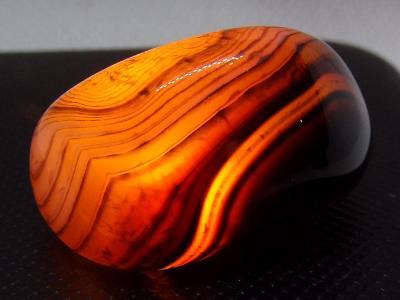 Achát - Leštěný krystal, nádherný přírodní vzor 9 g A+