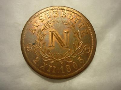 stará pamětní mince Napoleon Slavkov Tvarožná -viz. foto