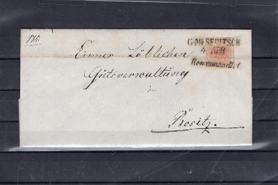 969 Rakousko - R. dopis, vzadu otevřeno se známkou!