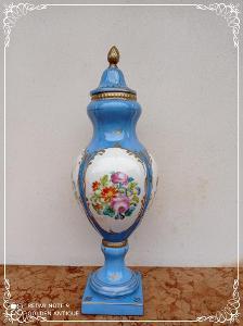 *** Nádherná porcelánová malovaná dekorativní dóza   ***