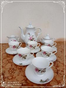 *** Luxusní porcelánová malovaná kávová souprava - servis ***