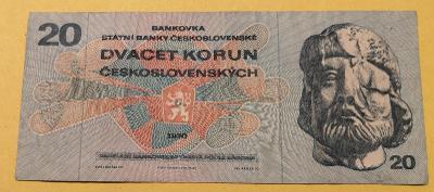 Československo 20 Kčs 1970 serie L80