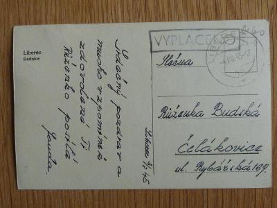 LIBEREC PROVIZORIUM 1945 VYPLACENO