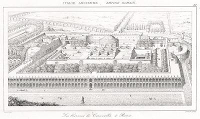 Roma Caracalla, Le Bas, oceloryt 1840