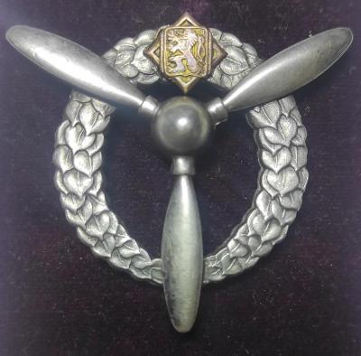 Letecký pilotní odznak mechanik stříbro Ag