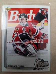 Dominik Hašek Upper Deck 1992-93 č. 366 Chicago Blackhawks