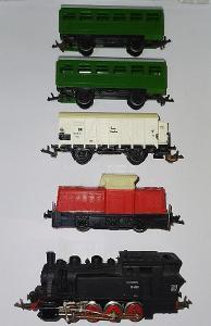 SET Železnice TT - Lokomotivy s vagony, koleje, želez. most atd.