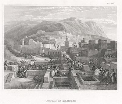 Tetuan in Maroko,  oceloryt, (1850)