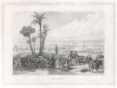 Maroko, Meyer, oceloryt, 1850