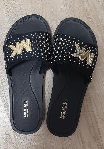 Černé pantofle  MICHAEL KORS vel: 8