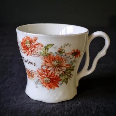 Starožitný secesní porcelánový šálek, Německo
