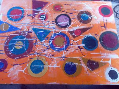 obraz moderna abstrakce akryl na plátně