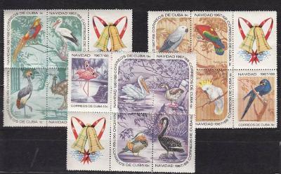 Kuba 1967 ** vtáky vianoce komplet mi. 1373-1387