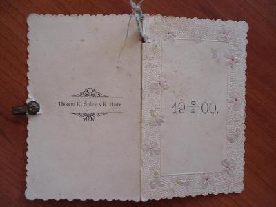 Taneční pořádek  - Kutná Hora - 6.2.1900