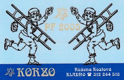 KARTIČKOVÉ KALENDÁŘÍKY 1 KS -  KORZO KOMINÍCI 2005  !!!