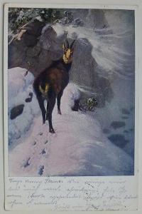 Úkryt před sněhovou bouří - 1914