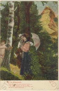 Muž se ženou u lesa