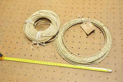 Starý kabel, drát, izolovaný k radiím - ruský výrobce,...