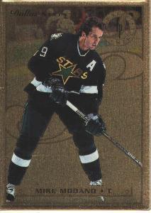 MIKE MODANO - DALLAS STARS (96/97 LEAF PREFERRED STEEL GOLD)