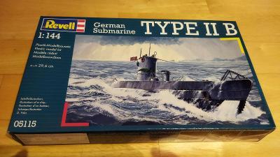 Stavebnice německé válečné ponorky Type II B od Revell, měřítko 1:144