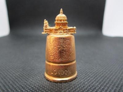 Sběratelský náprstek 3D Anglie - Londýn, Katedrála sv. Pavla, mosazný,