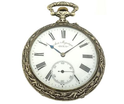 Velké kapesní dostihové hodinky Doxa