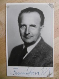 FRANTIŠEK SMOLÍK, AUTOGRAM HEREC