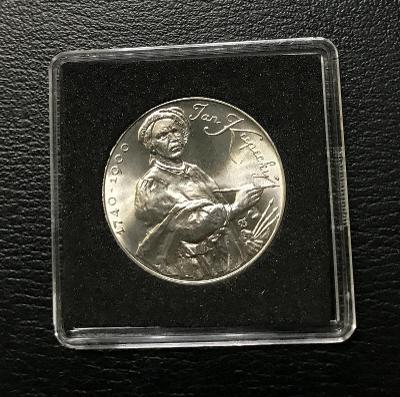 Vzácná stříbrná mince 100 Kčs 1990 Jan Kupecký, perfektní stav!