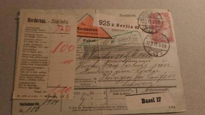 DT. REICH PĚKNÁ CELINA DOBÍRKA 1913 Mi/#94A-I 30eu POUZE FRANKATURA