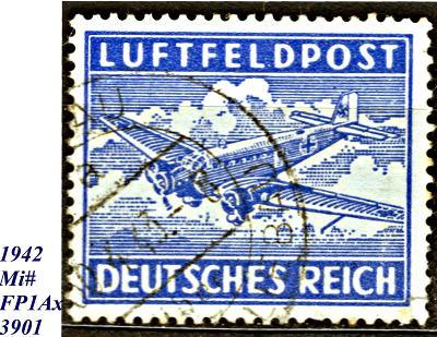 DR 1942, FP , letecká,  dopravní letadlo Junkers JU 52