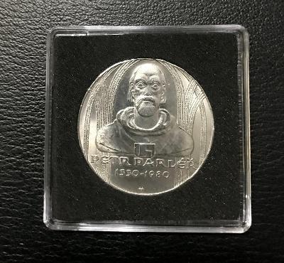 Stříbrná mince 100 KORUNA 1980, Petr Parléř,perfektní stav!