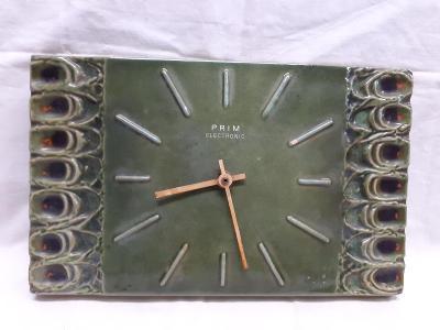 Zelené keramické hodiny Prim Electronik  / 442 /
