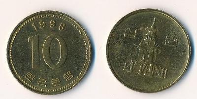 Jižní Korea 10 wonů 1998
