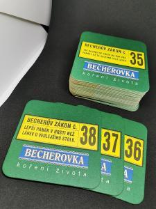 Pivní tácky - Becherův Zákon, Becherovka