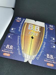 Pivní tácky - Budweiser, puzzle