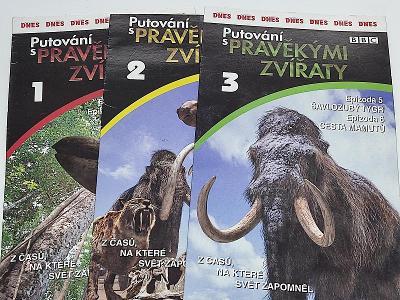 PUTOVÁNÍ S PRAVĚKÝMI ZVÍŘATY 1.2.3. / 3 X DVD NEŠKRÁBLÉ