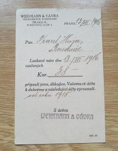 Korespondenční lístek 1916