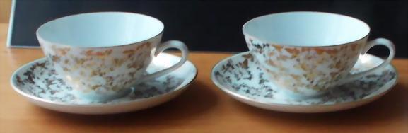 Přátelská čajová souprava - jemný porcelán