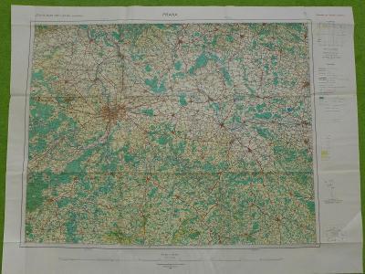 Letecká mapa ČSR, Praha, 1948