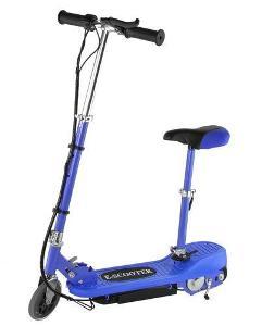 Elektrická koloběžka E-Scooter se sedátkem modrá AUKCE od 1 kč B