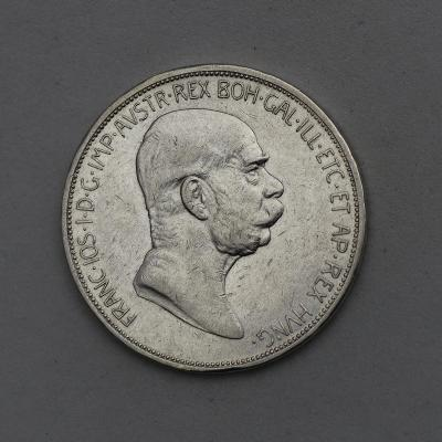 Stříbrná Pětikoruna FJ I. 1909 bz - Marschall - Vzácnější!