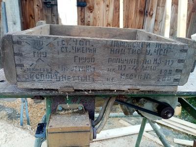 Dřevěné muniční bedny