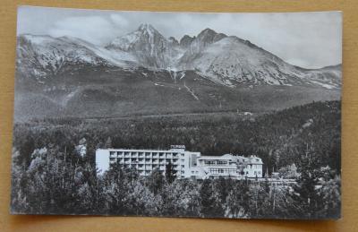 Slovensko - Vysoké Tatry - Zotavovna ROH MORAVA znak Spartakiáda 1955