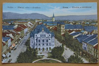 Slovensko - Košice / Kassa / - hlavní ulice - divadlo