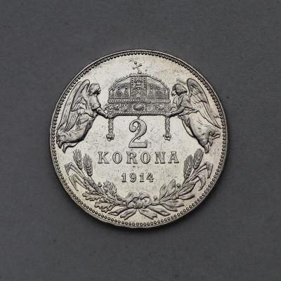 Stříbrná Dvoukoruna FJ I. 1914 KB - Nádherná a Vzácná!