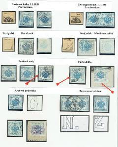 Rakousko-Uhersko - Novinové kolky 1.1.1859