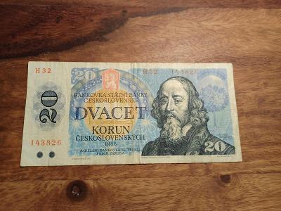 BANKOVKA 20kčs rok 1988