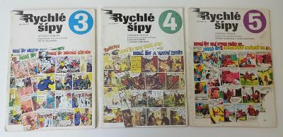 Komiks Rychlé šípy č. 3, 4, 5 - Jaroslav Foglar, Marko Čermák